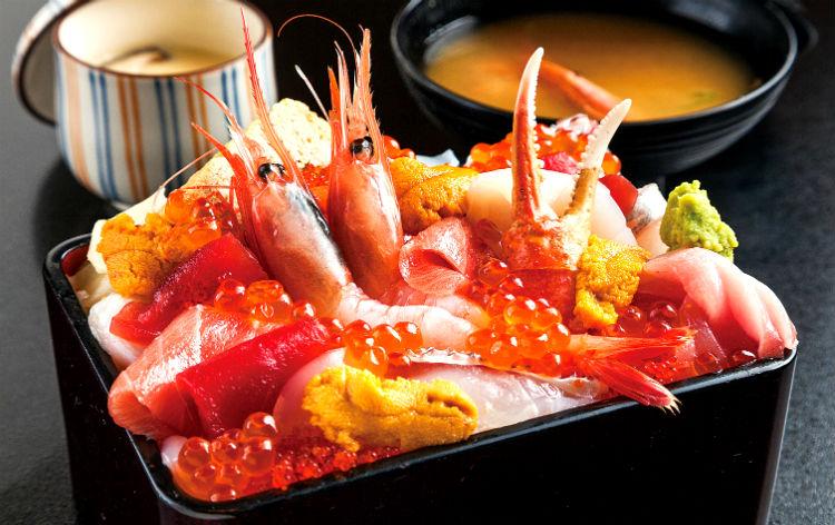 うに醤油で食す極上海鮮丼(イメージ)