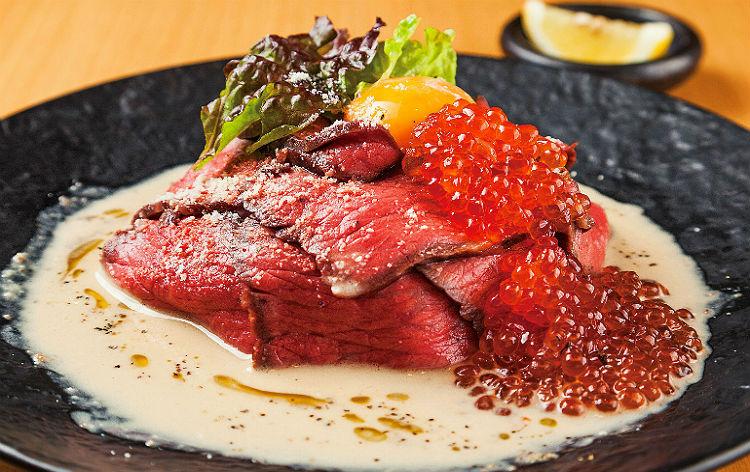 越後牛ローストビーフ&たっぷりいくら丼(イメージ)