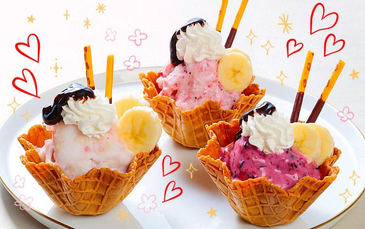 桃のアイスクリーム作り(イメージ)