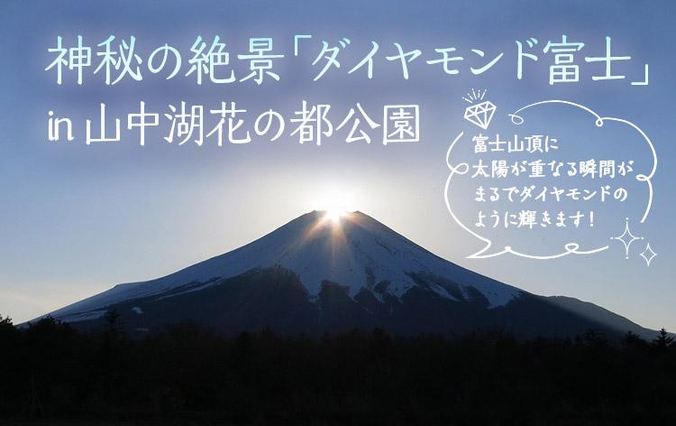 ダイヤモンド富士(イメージ)