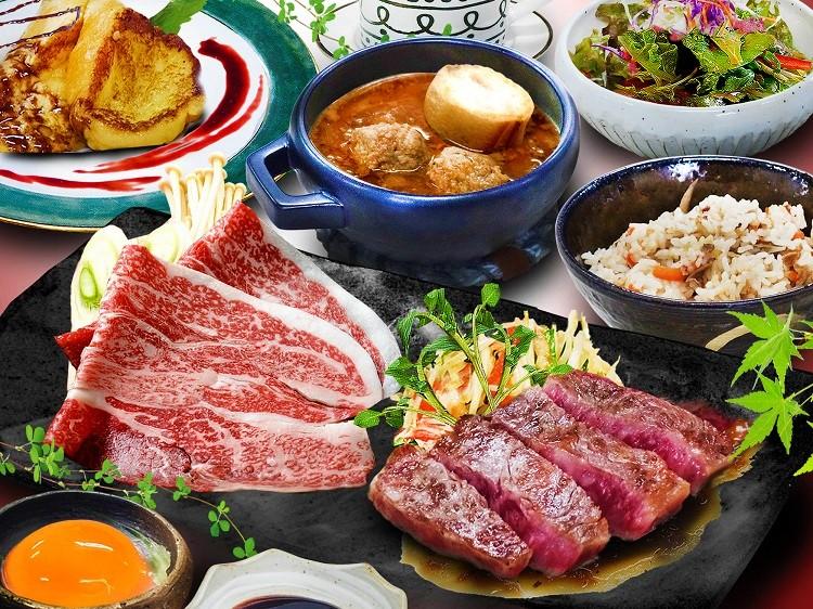 近江牛ステーキ&すき焼き(イメージ)