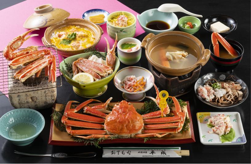 タグ付き越前ガニ1杯付フルコース1人前※焼き蟹のみ写真は2人前(イメージ)