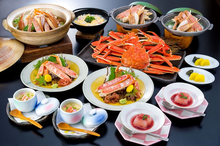 カニフルコース昼食(2名分イメージ)