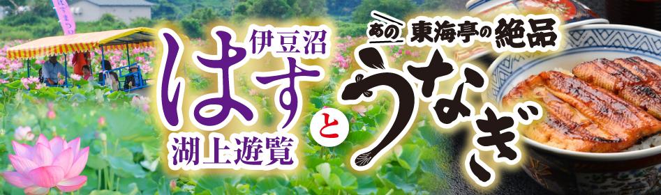 伊豆沼はす湖上遊覧と、あの!東海亭の絶品うなぎ